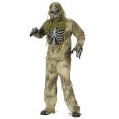 Skelet Zombie Kostuum Groen
