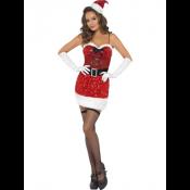 Sexy Kerstvrouw jurkje met mutsje