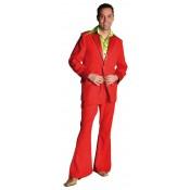 Kostuum 70's rood, colbert en broek