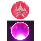 Pretty Pink Circus Button met licht
