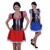 Tiroler jurk Monika Rood-Zwart OP=OP