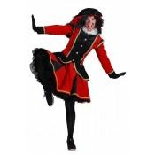 Zwarte Piet Dame Madrid Rood Zwart