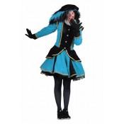 Zwarte Piet Dame Madrid Turq-Zwart