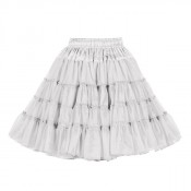 Petticoat Wit 3-laags Luxe