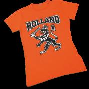 Oranje damesshirt met leeuw