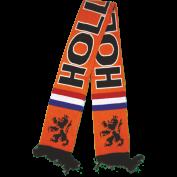 Holland shawl oranje gebreid