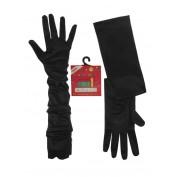 Zwarte lange handschoenen stretch