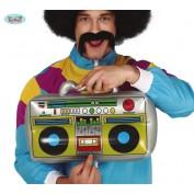 opblaasbare radio cassetterecorder