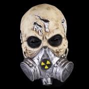Schedel met gasmasker
