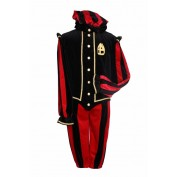 Pietenpak Menorca Luxe Zwart-Rood