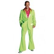 Kostuum fluor groen jaren 70 colbert en broek