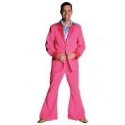 Roze kostuum broek en colbert jaren 70