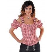 Tiroolse Blouse Rood Wit