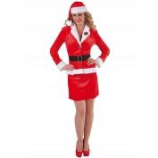 Kerstmeisje Santa Bussiness