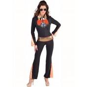Elvis kostuum dames zwart