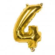 Folieballon goud nummer 4