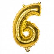 Folieballon goud nummer 6