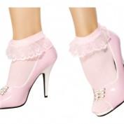 ruche sokken roze