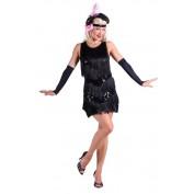 Charleston jurk zwart glitter