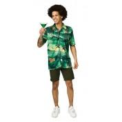 groen Hawaii hemd met palmbomen