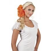 haarclip oranje bloemen