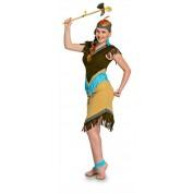 Indianenjurk Vrouw met Haarband en Veer