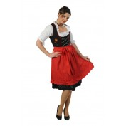 Dirndl jurk Anna zwart rood