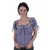 tiroler blouse lila wit