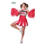 Cheerleader pakje rood wit