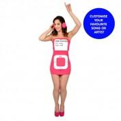 MP3 speler jurk pink
