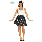 Rock and Roll Rok met petticoat Zwart