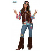 Hippie kostuum met broek en haarband