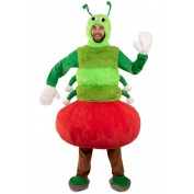 Rups uit appel kostuum