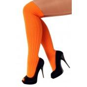 Oranje lange kousen