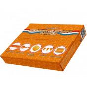 Oranje pakket straat versieren