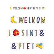 Letterslinger 3 m papier Welkom Sint & Piet