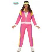 jaren 80 trainingspak Pink