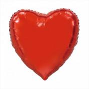 rood folie hart ballon 46cm