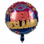 Folieballon hoera geslaagd neon