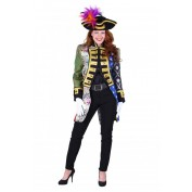 admiraalsjas patchwork dames mix van kleuren