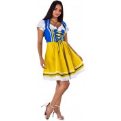Tiroler Dirndl Blauw geel