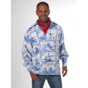 blouse delfts blauw