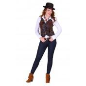 Cowboyvest Dame Bruin de Luxe