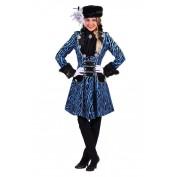 carnavalsjas gevoerd Zebra blauw