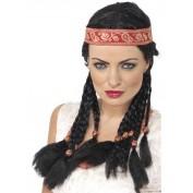 indianenpruik met haarband