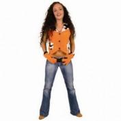 gilet oranje met handschoenen
