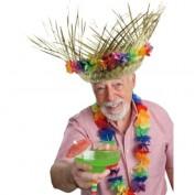 rieten hoed met bloemen