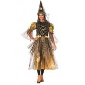 Heksenjurk fee goud met hoed