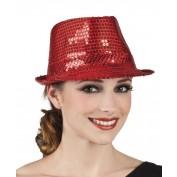 rood hoedje met pailletten