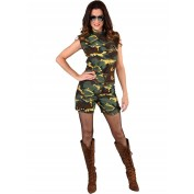 Leger camouflage hotpants pak